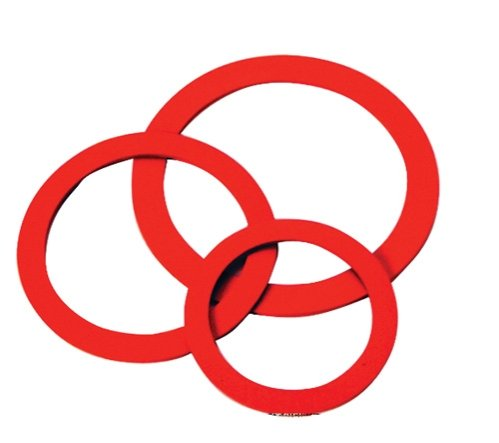 4 Diameter Red Silicone Rubber Perforated Vacuum Casting Gasket